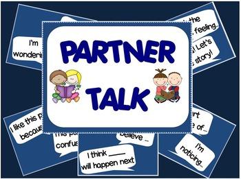 """Partner Talk"" Posters for ELA 2nd Grade"