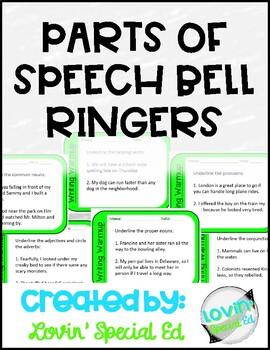 *Parts of Speech* Grammar Bell Ringers