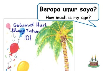 'Party Invitation' Indonesian English Picture Book