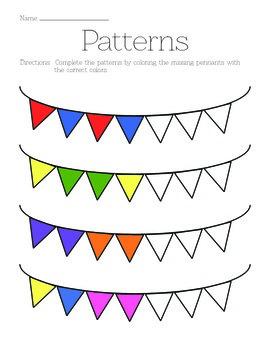 """""""Pattern Completion"""" Worksheet"""