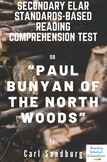 """""""Paul Bunyan of the North Woods"""" by Carl Sandburg Multiple-Choice Reading Test"""
