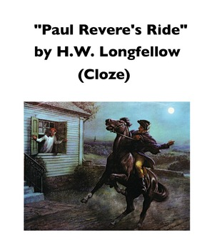 """""""Paul Revere's Ride"""" by Henry Wadsworth Longfellow (Full-Text Cloze)"""