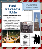 """Paul Revere's Ride""- middle school poetry lesson- Longfellow - printables"