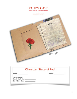 """Paul's Case"" by Willa Cather - Character Study of Paul"
