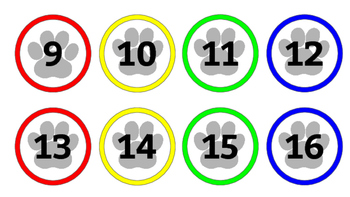 """""""Paw""""some paw print Classroom Numbers/Calendar"""