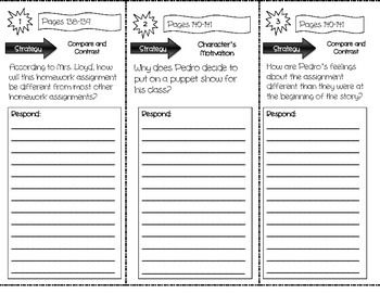 """Pedro Puts On A Play"" Comprehension Trifold (Storytown Lesson 5)"