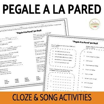 "Family Ser Tener Listening Activity ""Pegale A La Pared"" Cloze"