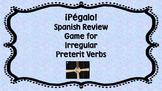¡Pégalo! Irregular Preterit Review Game