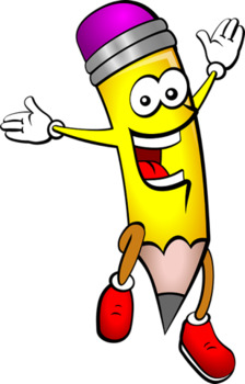 ★{Pencil Jumping Clipart }★ ✔Professional Use