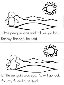 """""""Penguin's Friend"""" Emergent Reader (A Winter/December/January Dollar Deal)"""