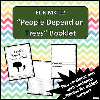 """People Depend on Trees for Food"" Booklet EL K M3.U2"