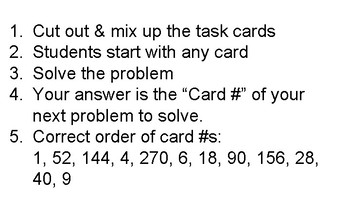 """Percent Of..."" Self-Checking Task Cards OR Scavenger Hunt"