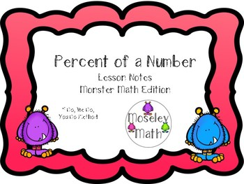 **Percent of a Number Lesson Notes Freebie**