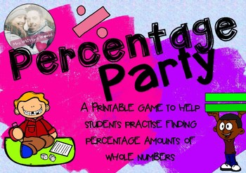 'Percentage Party' Board Game