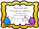 **Percents/Percent of a Number Scavenger Hunt w/ Recording