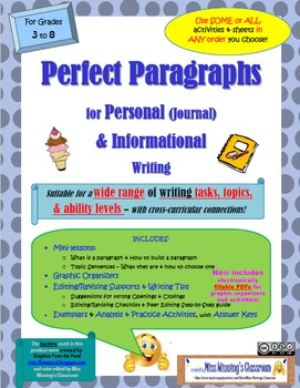 """""""Perfect Paragraphs"""" for Personal (Journal) & Informational Writing"""