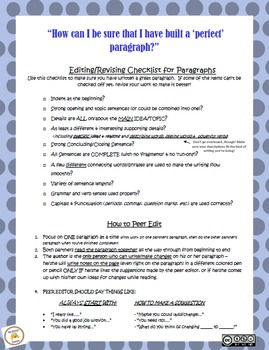 """Perfect Paragraphs"" for Personal (Journal) & Informational Writing"