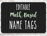 **Personalized** Shiplap Nametags - Math Based (Read directions before purchase)
