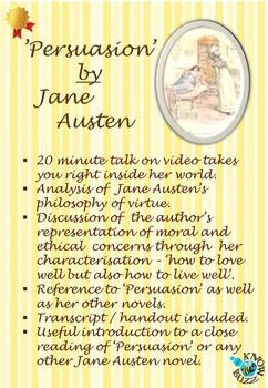 'Persuasion' by Jane Austen - Jane Austen's philosophy of virtue