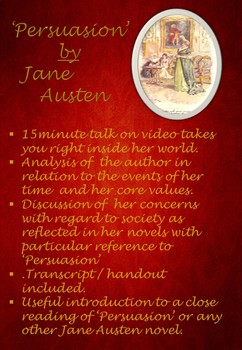 The revolutionary Jane Austen - a discussion with reference to 'Persuasion'.