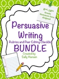 Persuasive Writing BUNDLE: Peer Editing & Rubrics 2nd-12th & Halloween Prompts