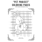 """Pet Portrait"" Coloring Pages - Flopsy Bunny"