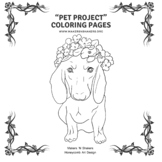 """Pet Project"" Coloring Pages - Buttercup the Dachshund"