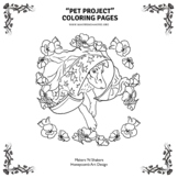 """Pet Project"" - Coloring Pages, Memorial Day Puppy"