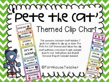 'Pete the Cat' Themed Behavior Clip Chart