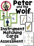 """""""Peter and the Wolf"""" Character & Instrument Matching CARDS"""