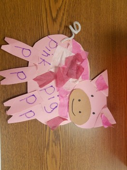 (Phonics) Letter P project, Pig  (Learn basic shapes and colors)