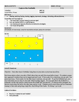 [Phys Ed] [Grades 3-8] Lifetime Unit Theme Activities