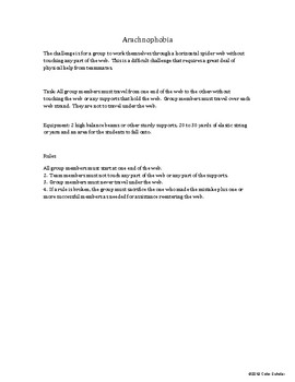 [Phys Ed] [Grades 5-8] Cooperative / Team Building Unit Theme Activities