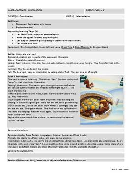 [Phys Ed] [Grades K-2] Coordination Activities Theme