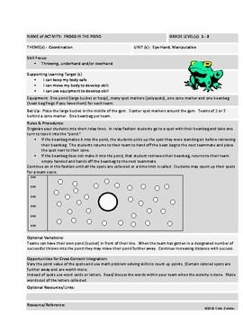 [Phys Ed] [Grades K-5] Coordination Activities Theme