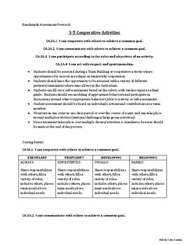 [Physical Education] [Grades 3-5] Teacher Resources - Assessments
