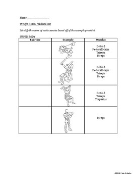 [Physical Education] Weight Training - Unit Planner, Lessons Agenda