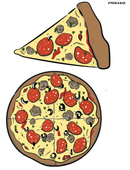 photograph relating to Pizza Printable called Total-Measurement Printable Pizzas within just Distinct Measurements