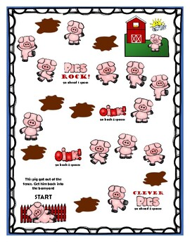 """Pig Words"" (-oy, -oi) Phonics Packet"