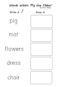'Pig the Fibber' - Relief Teacher resource - Prepratory