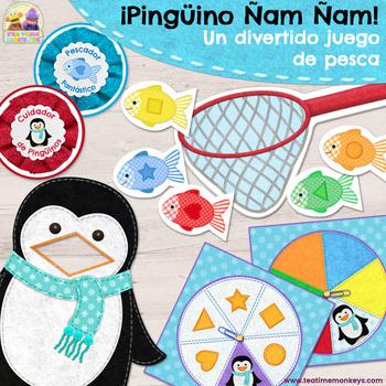 ¡Pingüino Ñam Ñam! Juego Colores y Formas - Colour & Shape Matching Game Spanish