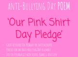 'Pink Shirt Day Pledge' POEM (Black & White)