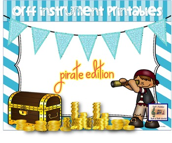Orff Instrument Printables Pirate Theme