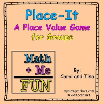"""""""Place-It""""- A Practicing Place Value Game"""