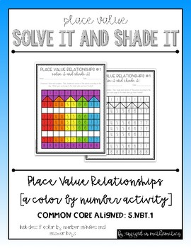 Place Value Relationships Solve It & Shade It (A Color by Number Activity)