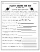 """""""Planets Around The Sun"""" Activities for Reading, Writing, & Comprehension"""