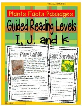 (Plants) Leveled Passages Guided Reading Levels I,J,K (Lex