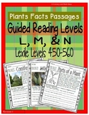 (Plants) Leveled Passages Guided Reading Levels L,M, N (Le