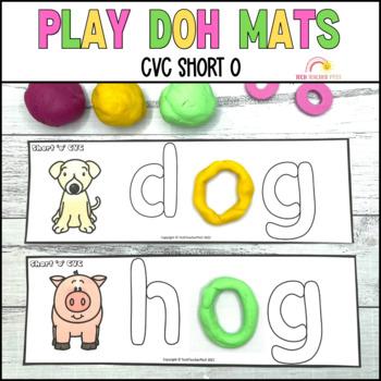 Play Dough Mats Sight Words CVC Short O Phonics