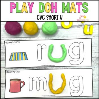 Play Dough Mats Sight Words CVC Short U Phonics